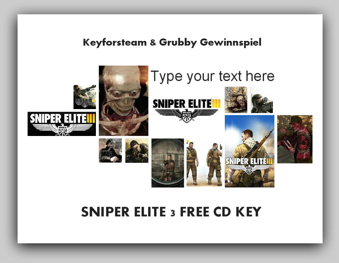 Sniper Elite 3 FREE CD Key Gewinnspiel