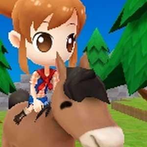 Harvest Moon The Lost Valley Nintendo 3DS Ein Pferd reiten
