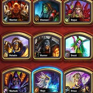 Hearthstone Heroes of Warcraft Deck of Cards Helden Auswahl