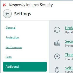 Kaspersky Anti Virus 2019 zusätzlich