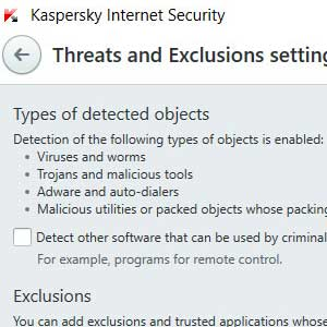 Kaspersky Anti Virus 2019 Erkennung