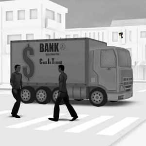 Geld im amorierten Auto