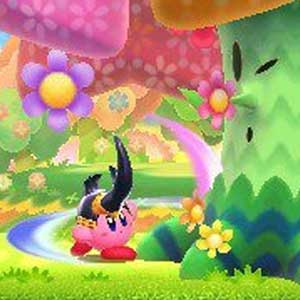 Kirby Triple Deluxe Nintendo 3DS Blumige Woods