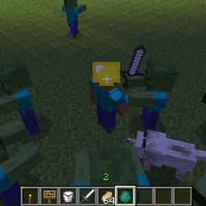 Minecraft PS4 kämpfen Zombies