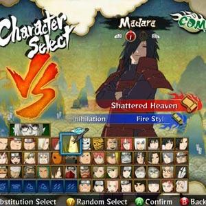 Naruto Shippuden 3 Charakter auswählen