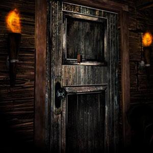 Die Tür , die innerhalb der Mansion Leads