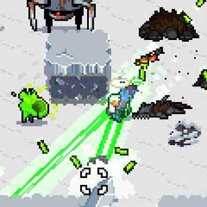 Laser Mini-gun in gefrorenen Städte