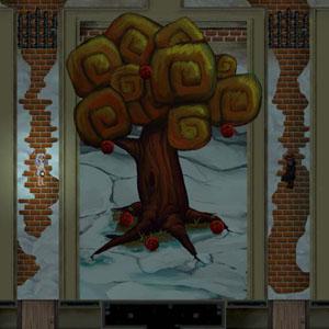 Screenshot: Baum in der Snowy -Stadt