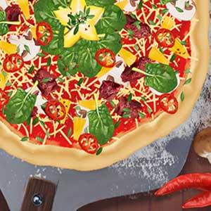 Mehr Geschmack und extra Käse Pizza