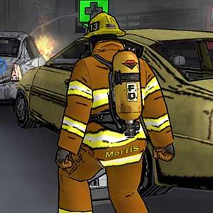 Fahrzeugbrand und Chaos