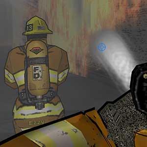 Im Inneren des brennenden Gebäudes