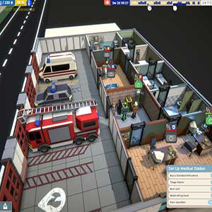 Rescue HQ The Tycoon Gameplay-Schnittstelle