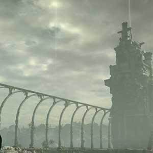 Verboten landet mit eindringlichen Ruinen gefüllt
