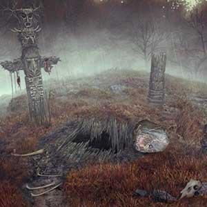 Gruseliger Friedhof