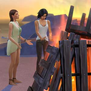 The Sims 4 Get Together Brannte Feuer