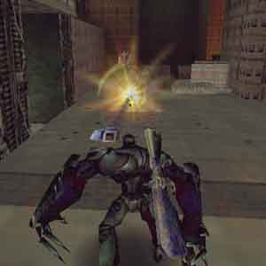 Slave Zero Screenshot: Slave Zero mit einem Feind