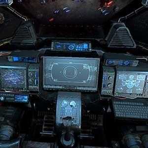 Raumschiff-Cockpit