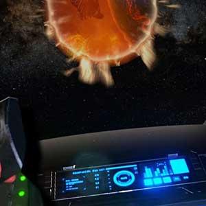 Feuerball-Ansicht vom Raumschiff