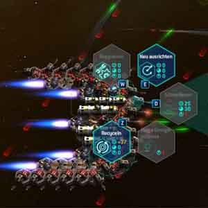 Space Run Überprüfen auf vitals des Raumfahrzeugs