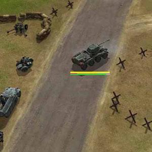 Tank bereit zum Angriff