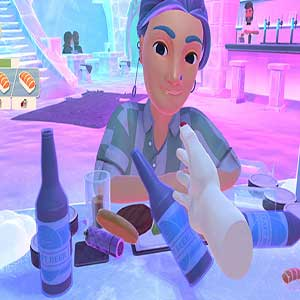 halbfertiges Glas Pinot Grigio