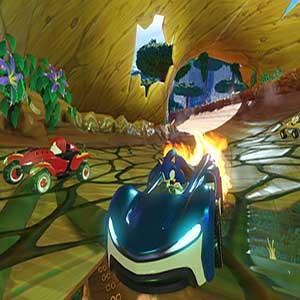 Power-Ups für das Team Sonic Racing