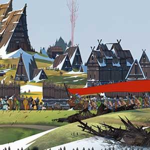 The Banner Saga 2 Das Dorf of Skogr