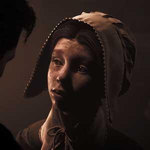 Die Augen eines hoffnungsvollen Kindes