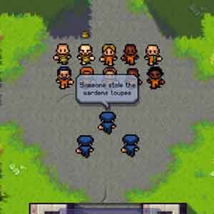 The Escapists Screenshot: Morning Roll-Call Outdoors