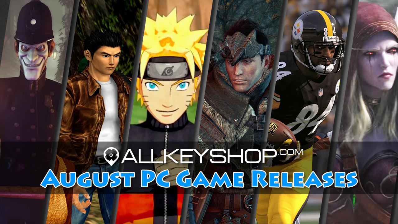 Keyforsteam August PC Spiele Release
