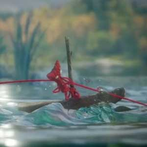 Unravel - Yarn swing von Ast