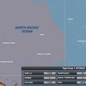 die gesamte Pazifikkarte