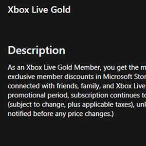Xbox Live Gold Membership 12 Months Subscription Beschreibung