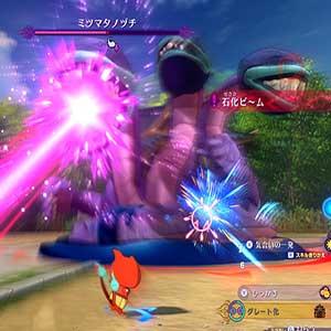 Yo-kai against 3 enemy